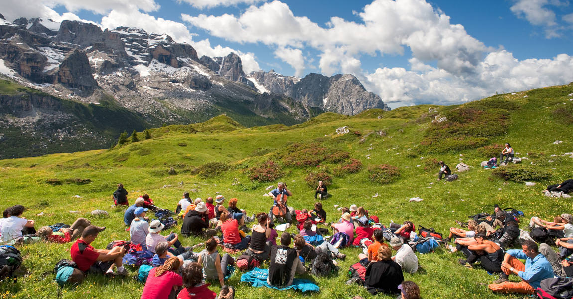 suoni delle dolomiti trekking con musica copyright D. Lira