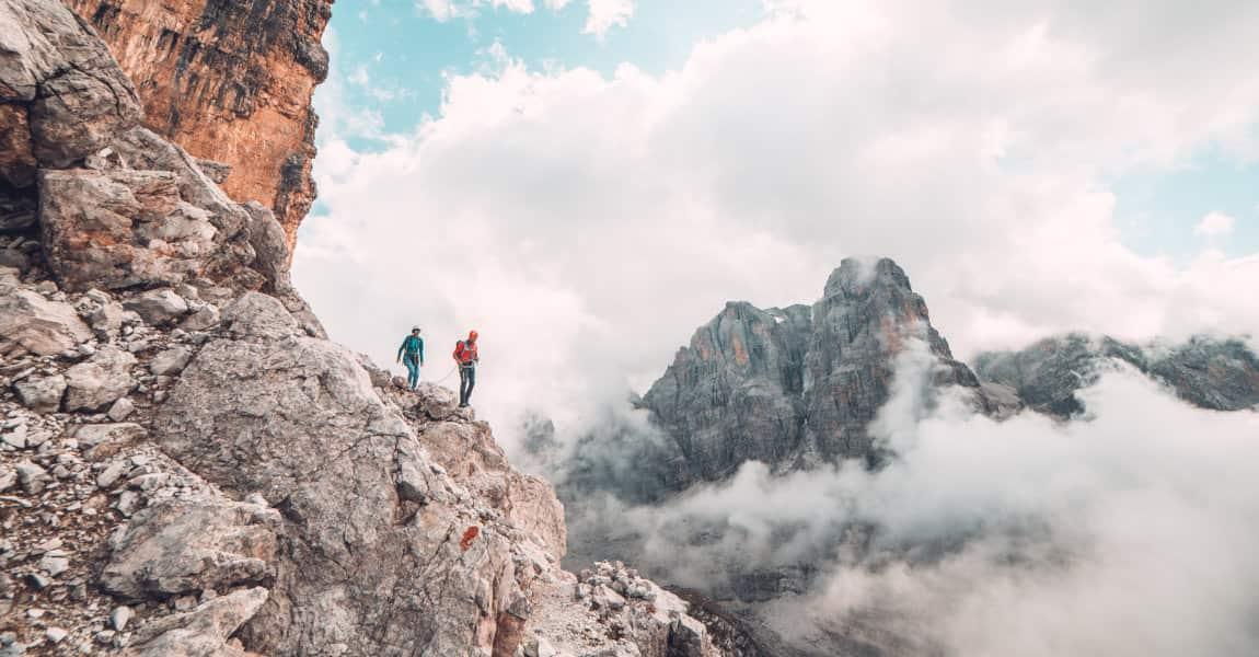 trekking sulle Dolomiti E.Veronese copyright E. Veronese