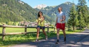 Nordic walking copyright Apt Val di Fassa