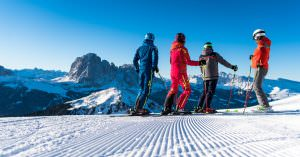Sellaronda tour and Val Gardena ski slopes