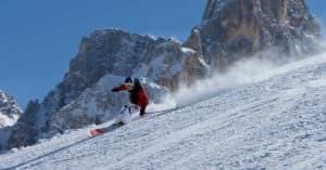 Skiing in San Martino di Castrozza
