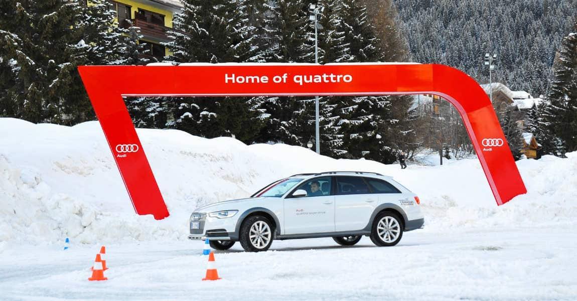 test drive su ghiaccio e neve