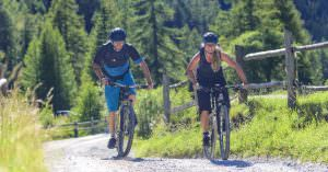 Downhill park and e-bike trails in San Martino di Castrozza