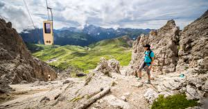 Hiking in Val Gardena's Dolomites, a UNESCO World Heritage