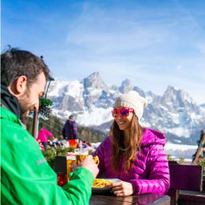 Lunch or dinner at the foot of the Pale di San Martino range