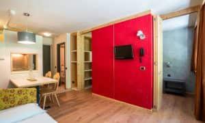 salotto appartamento per 3 persone Ambiez Residence Hotels