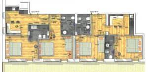 Apartment Superior mit Gartenzugang, zwei Schlafzimmern und zwei Bädern