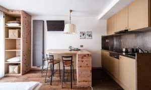 Alpin Apartment mit einem Schlafzimmer und Balkon (3 Personen)