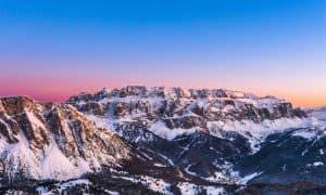 gruppo del sella Dolomiti Val Gardena enrosadira