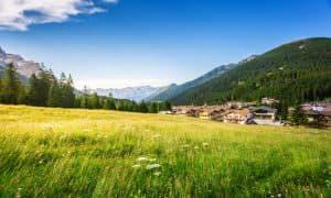 Panorama valle del Primiero San Martino di Castrozza dolomiti Trentino Italia